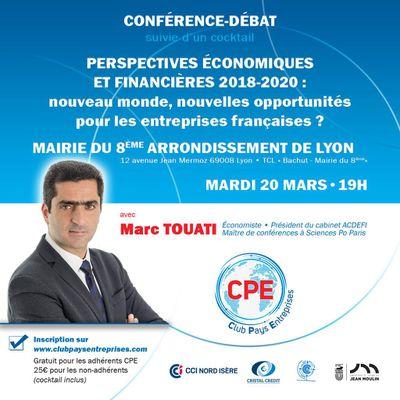 Invitation : Conférence de Marc Touati pour le Club Pays Entreprises le 20 mars 2018