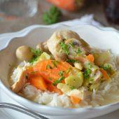 Blanquette de poulet express au cookeo - Le blog de C'est Nathalie qui cuisine