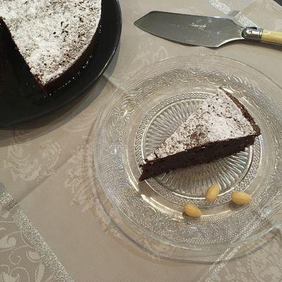 Torta caprese (fondant au chocolat et aux amandes)