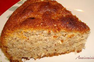 Gâteau moelleux à la noisette sans oeufs
