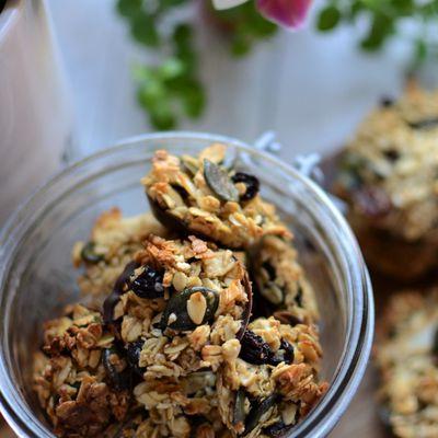 Biscuits moelleux flocons d'avoine raisins secs miel
