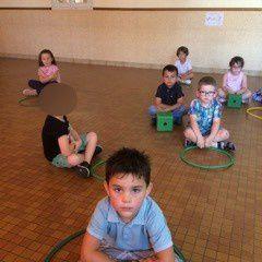 """Les enfants de Grande section  """"Calme et Tranquille comme une grenouille"""""""