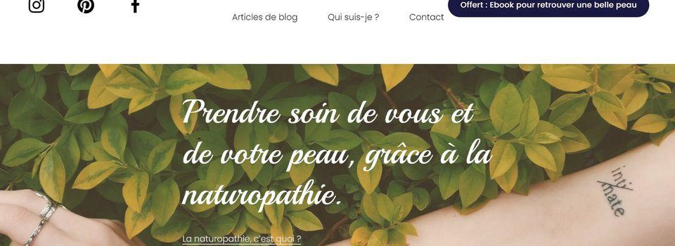 Peau'fine Ta Santé : retrouver une belle peau avec la naturopathie