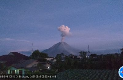 Activity of Sinabung, La Soufrière and La Fournaise.
