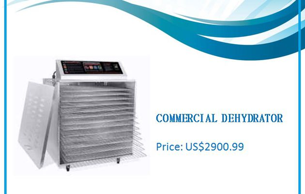 Dehydrator Commercial 14 Shelf with Digital Touch Screen & Chrome Shelves