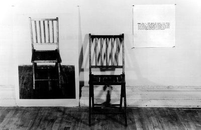 One and Three Chairs @ Joseph Kosuth. 1965
