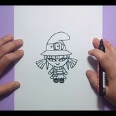 Como dibujar una bruja paso a paso 8   How to draw a witch 8