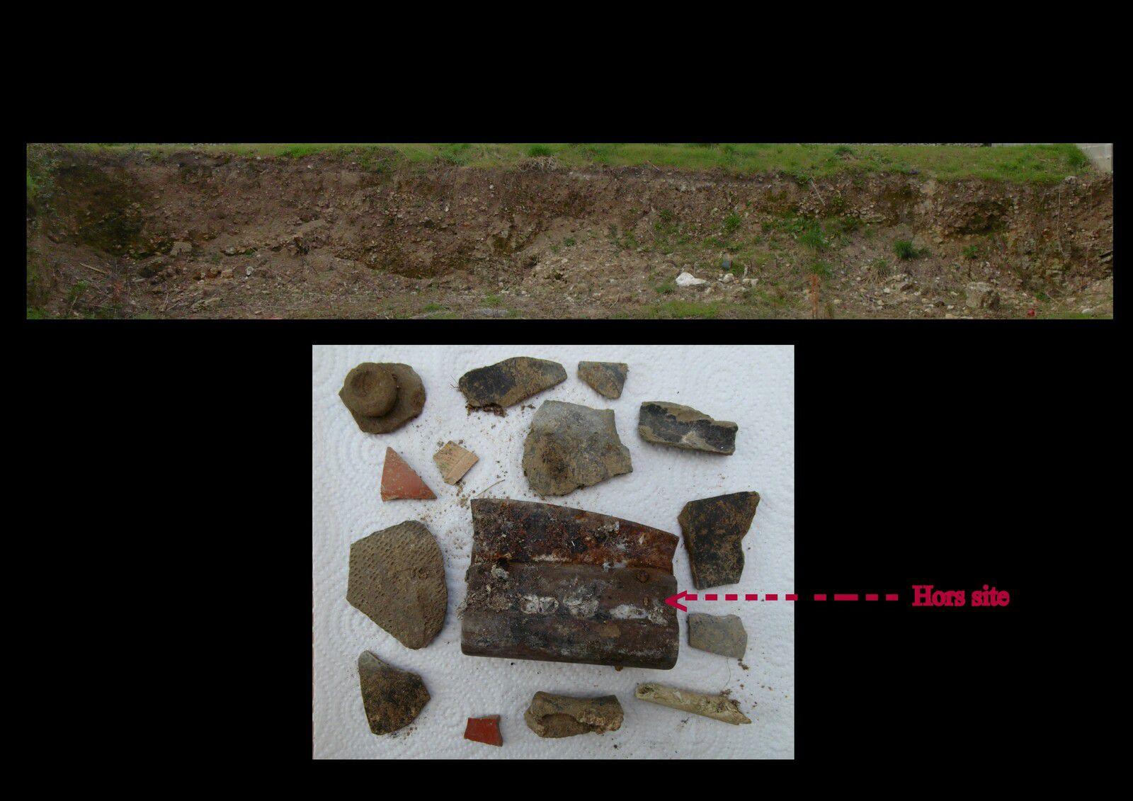 A Saintes, alors que les archéologues sont partis, des mois après la terre descend des strates et témoigne à nouveau...