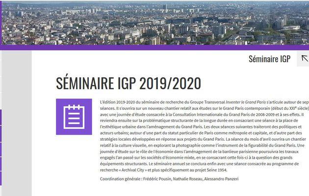 """Les liens avec tous les travaux du séminaire """" Inventer le Grand Paris """" #Grandparis"""