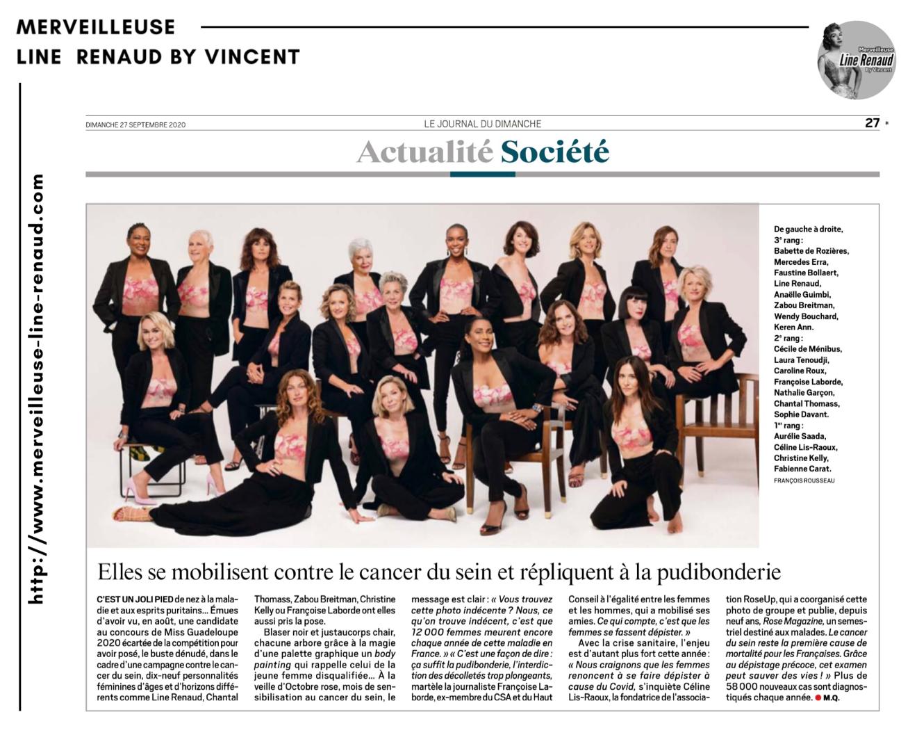 PRESSE: Le Journal du Dimanche - n°3846 - 27/09/2020