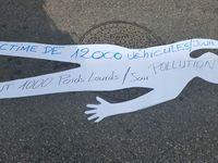 Firminy : ce vendredi 31 mars 2017  devant l'école de Fayol avec l'association de défense des riverains du boulevard Fayol