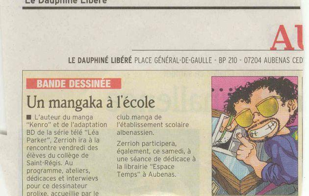 La presse en a parlé : Zerriouh au Club Manga (2/3)