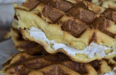 Gaufres flamandes à la crème de ricotta vanillée