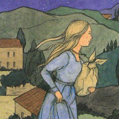 Vie & coloriages de sainte Claire d'Assise