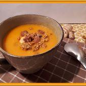 Velouté de carottes, gingembre et lait de coco - Oh, la gourmande..