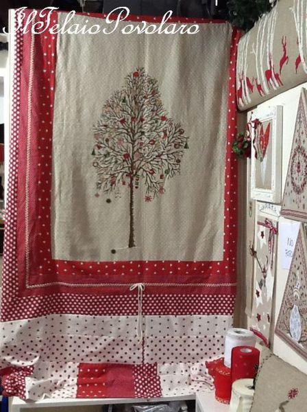 Un grande albero a punto croce per un copriletto natalizio  o un grande quadro??