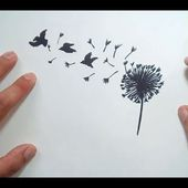 Como dibujar un diente de leon paso a paso   How to draw a dandelion
