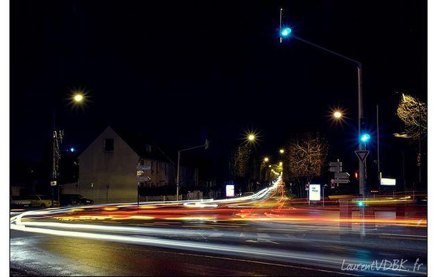 Sotteville la nuit : Carrefour Pont 4 mares / du Bd du 14 juillet
