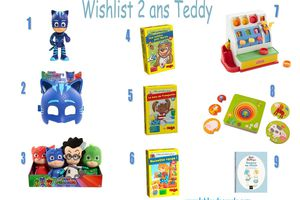 Wishlist anniversaire 2 ans de Teddy