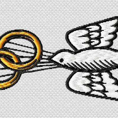 une colombe pour les mariages