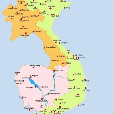 Cartes Cliquables & Vietnam-Laos