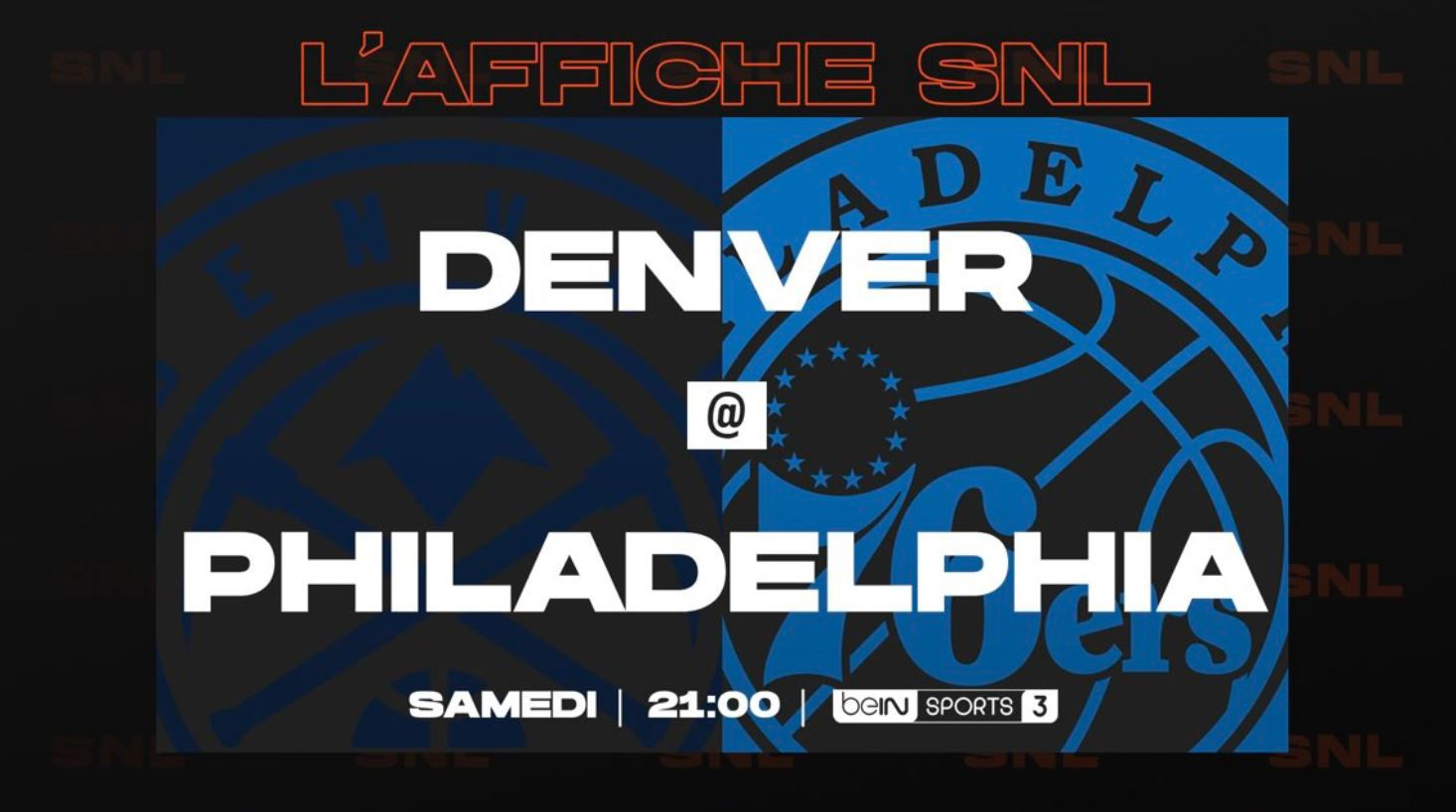 Denver Nuggets @ Philadelphia 76ers en direct samedi sur beIN SPORTS !