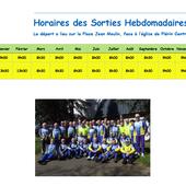 Horaires des sorties hebdomadaires - Le blog de l'Entente Cyclotouriste de PLÉRIN