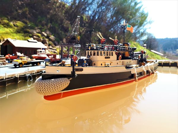 """AMERICA'S FIREBOAT....""""THE FIRE FIGHTER"""" AT HOMEPORT ..."""