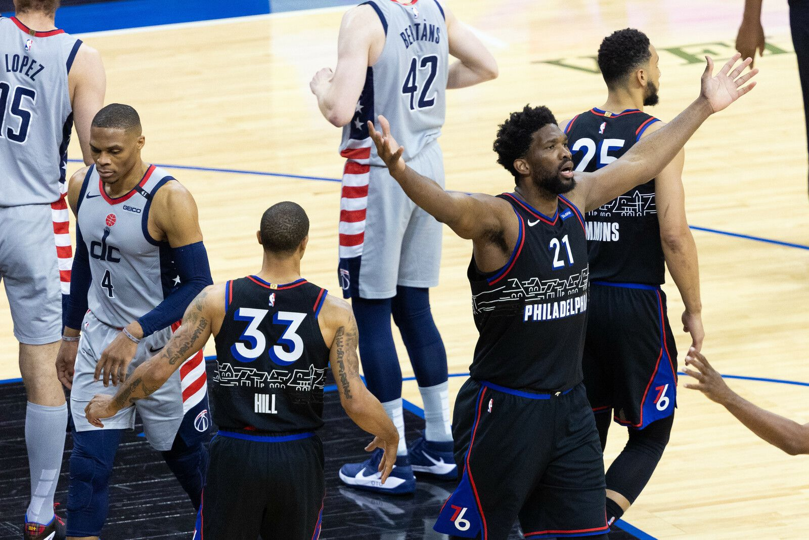 Philadelphie s'en sort bien dans le match 1 des Playoffs face à Washington