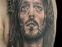 tatouage du Christ