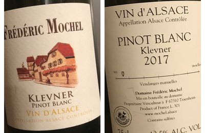 Alsace pinot blanc Klevner 2017 Domaine Frederic Mochel