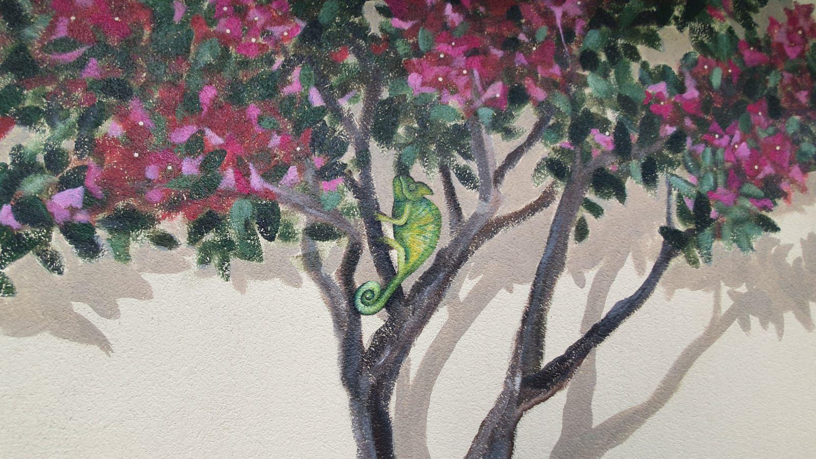 Créartaly décor peint caméléon