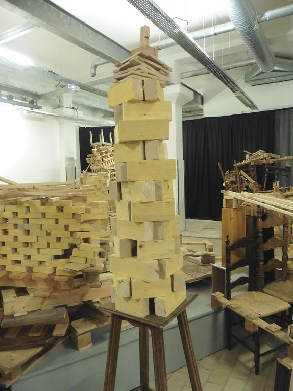 Installations made by Marc Chevalier and the pupils.