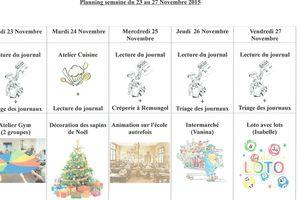 Planning semaine 48