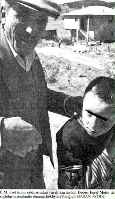 The young shepherd Ümit Metin, the only survivor of the Güneyce murders