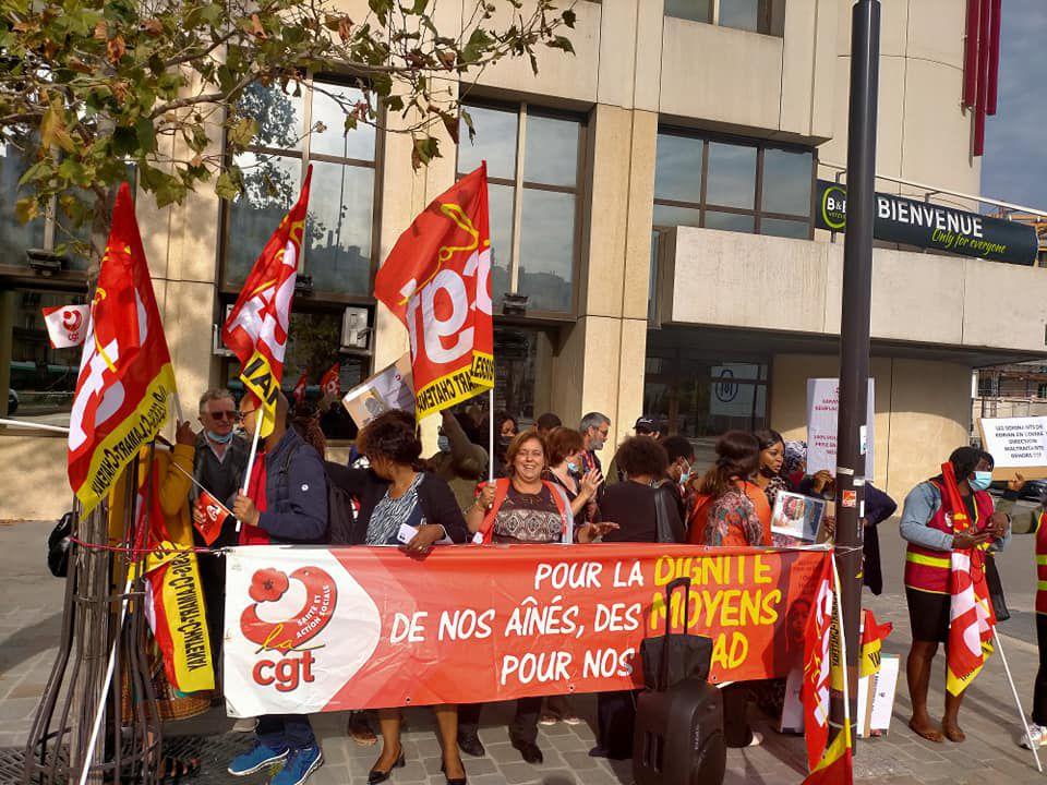 Syndicaliste, pas voyou. La CGT apporte son soutien à Odette, déléguée syndicale Korian.