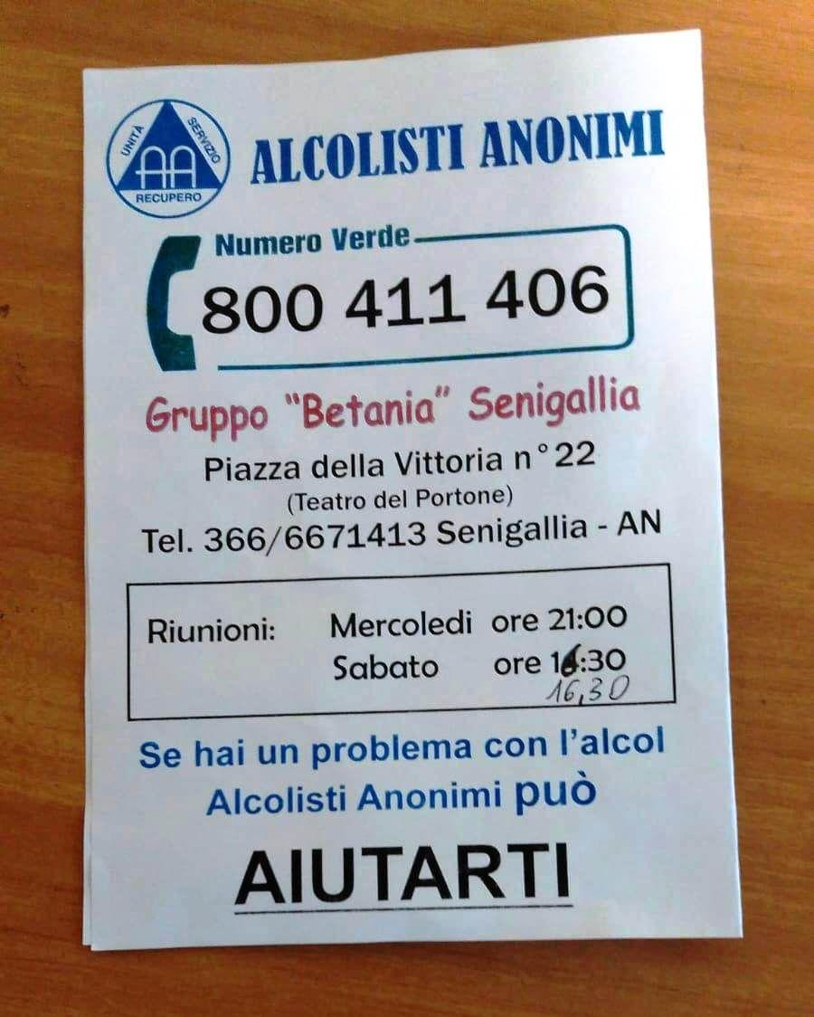 ITALIE Alcolisti Anonimi®