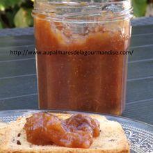 Confiture de figues, prunes d'Ente à la reduction de jus de pommes et agar agar (Sucre naturel de pommes)* Index Glycémique bas ou modéré* cuisson en MAP*