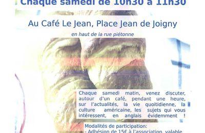 """LE """"CAFE DISCUTION EN ANGLAIS"""" CONTINUE PENDANT LES VACANCES !!!"""