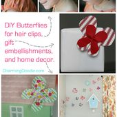 Fabric Scrap Butterfly with Free Pattern
