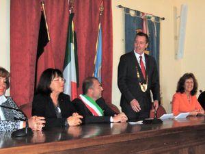 Das Rathaus und im Sitzungssaal von Greve in Chianti