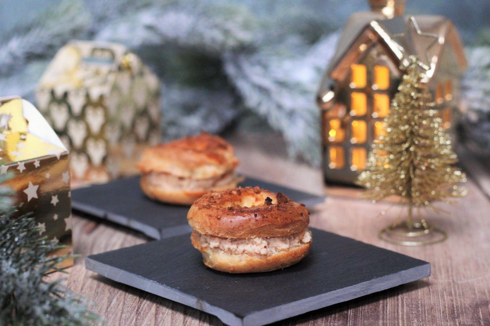 mini paris brest foie gras speculoos