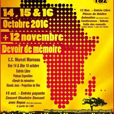 Journées Bami-Trad' (JBT) 14-16 octobre et 12 novembre 2016