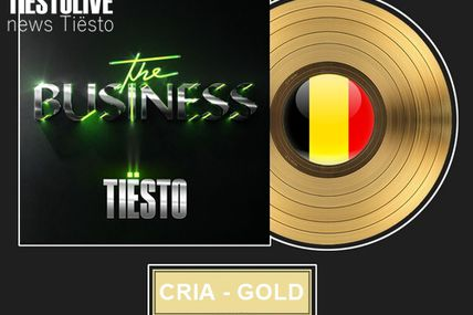 Tiësto, Certified Gold Single by Ultra Top (Belgium) for his song The Business