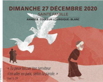 Paroisses de Genlis et Saint Just de Bretenières - Semaine du 26 décembre 2020 au 3 janvier 2021 - Sainte Famille - Année B