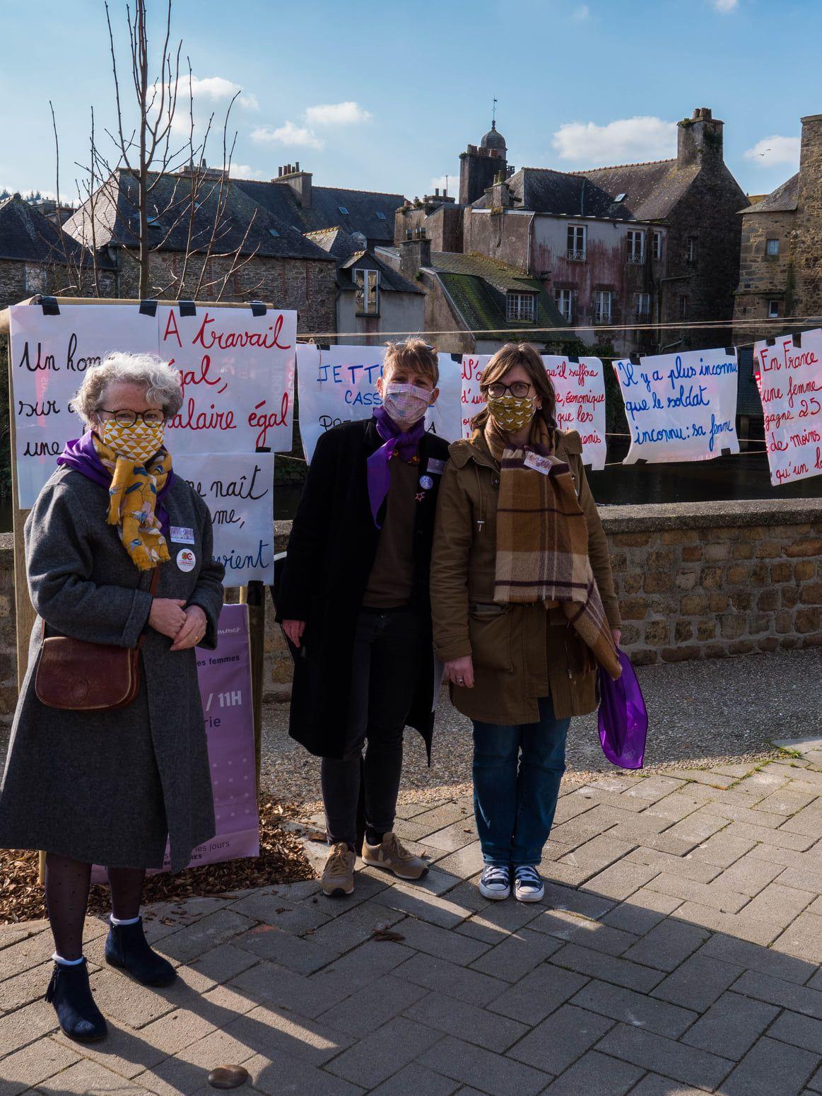 Manifestation pour les droits des femmes - Prise de parole de Gladys Grelaud – samedi 6 mars 2021 à Landerneau