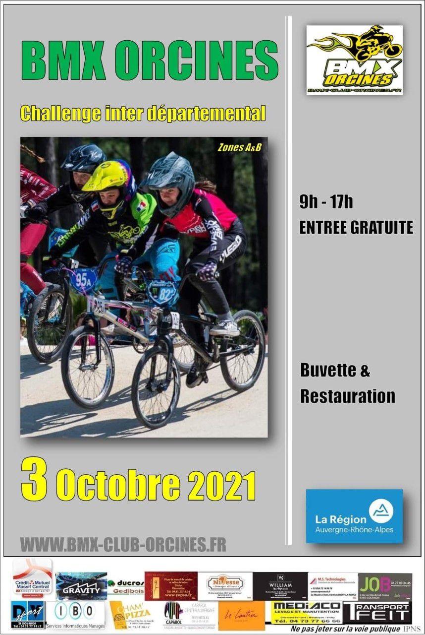 Inscrits et inscriptions au challenge interdépartemental à Orcines, 3 octobre