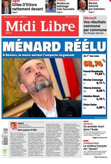 Les Unes des éditions de Midi Libre dans l'Hérault