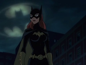 These shots establishes Batgirl as Batman's equal. But critics and fans found her ridiculous. The fact that Batman should be a pile of testosterone is never questioned but Batgirl's breasts make her less deserving. Strange music I hear.