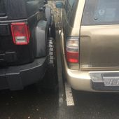 People suck at parking.